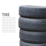 Tire stack isolated on white background Stock Photos