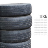 Tire stack isolated on white background Stock Images