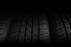 Tire stack selective focus Stock Images