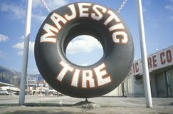 A tire store in Southern California Stock Photo