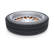 Tire supine view Royalty Free Stock Photo