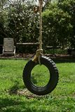 Tire swing. In the park Royalty Free Stock Photography