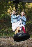 Tire Swing Fun Royalty Free Stock Photos