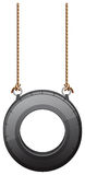 A tire swing. Illustration of a tire swing on a white background Stock Photos