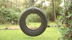 Tire Swing Tilt Shot stock video footage