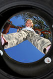Tire Swing View Royalty Free Stock Image
