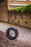 Tire Swing Wide. Close-up photo Royalty Free Stock Image