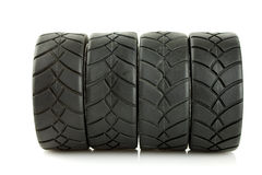 Tire. S with alloy wheels in chrome Royalty Free Stock Image