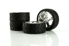 Tire. S with alloy wheels in chrome Stock Photos