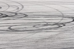 Tire trace Royalty Free Stock Photos