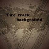 Tire track background. Background with grunge tire track and sample text Royalty Free Stock Photos