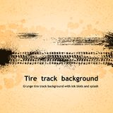 Tire track background Stock Photos