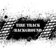 Tire track background on ink blots Stock Photo