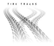 Tire track background Stock Image