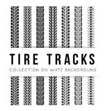 Tire track background. Tire track vector background in black and white style Royalty Free Stock Photography
