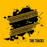 Tire track background Stock Images
