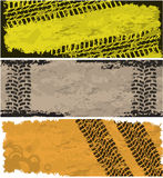 Tire track banners Stock Image