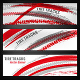 Tire track banners Royalty Free Stock Photography
