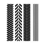 Tire track brush seamless border vector. Wheel protector design Royalty Free Stock Photo