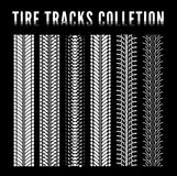 Tire track collection Royalty Free Stock Photos