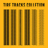 Tire track collection Royalty Free Stock Images