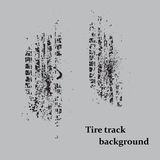 Tire track on gray Royalty Free Stock Images