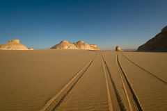 Free Tire Track On Sand Stock Photos - 17325933