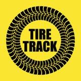 Tire track print Stock Photo