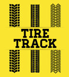 Tire track print Royalty Free Stock Photography