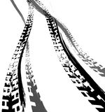 Tire Track Road stock illustration