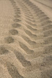 Tire track on the sand. Stock Photography