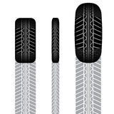 Tire track set 8 Royalty Free Stock Images