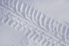 Tire track in snow Stock Photography