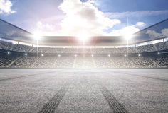 Tire track stadium. An imaginary stadium is modelled and rendered Stock Photography