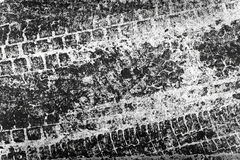 Tire track texture Royalty Free Stock Image