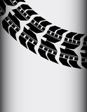 Tire track Royalty Free Stock Photography