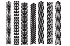 Tire track vector elements. For design Stock Photography