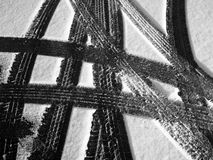 Tire Tracks 1 Royalty Free Stock Image