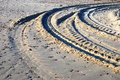 Tire tracks Stock Image
