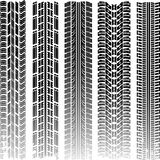 Tire tracks. Set, vector illustration Royalty Free Stock Photography