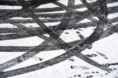 Tire tracks Royalty Free Stock Photos
