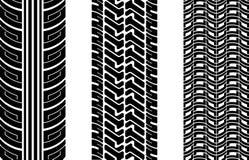 Tire tracks royalty free illustration