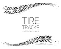 Tire tracks background. In black and white style. Vector illustration. can be used for for posters, brochures, publications, advertising, transportation, wheels Royalty Free Stock Photos