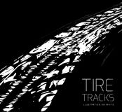 Tire tracks background Stock Photography