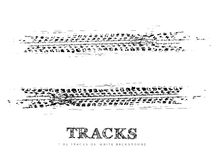 Tire tracks background. In black and white style. Vector illustration. can be used for for posters, brochures, publications, advertising, transportation, wheels Royalty Free Stock Photo