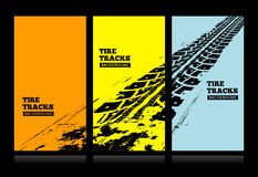 Tire tracks background Stock Photos