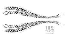Tire tracks background Stock Image