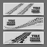 Tire tracks background Royalty Free Stock Images