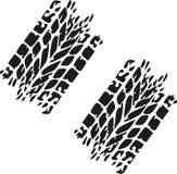 Tire tracks car. Wheel vector Royalty Free Stock Image