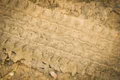 Tire tracks on Clay mud Stock Photography